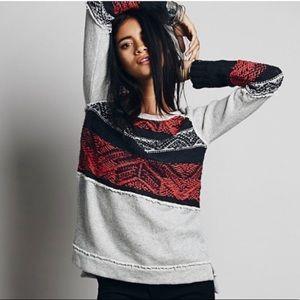 Free People Snow Angel Fringe Sweater M